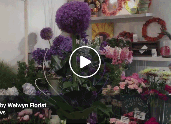 How to make a single allium flower, a few leaves and some clematis into a major feature!‬