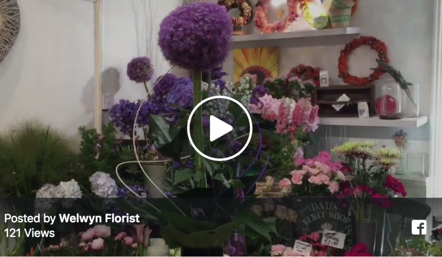 How to make a single allium flower, a few leaves and some clematis into a major feature!